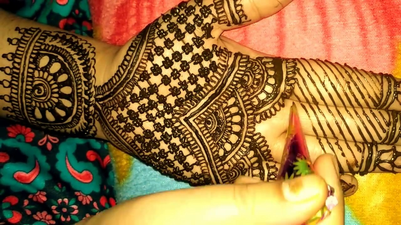 Mehndi design 2017 for bride - Easy And Simple Heena Arabic Mehndi Designs For Front Hands 2017 Bridal By Avni Mehndi Arts