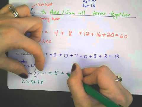 Arithmetic Sequences and Summation  Notation