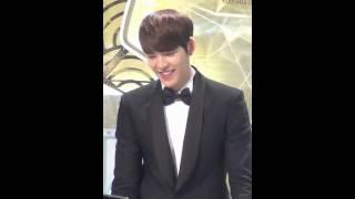 Fancam Kim Woo Bin imitating Choi Young Do SBS Drama Awards 2013