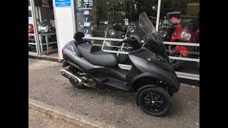 PIAGGIO MP3 Sport Touring LT 500 2013 Start Up & Review