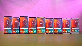 Samsung Galaxy S9 vs S8 vs S7 vs S6 vs S5 vs S4 vs S3 - Speed Test 2018!