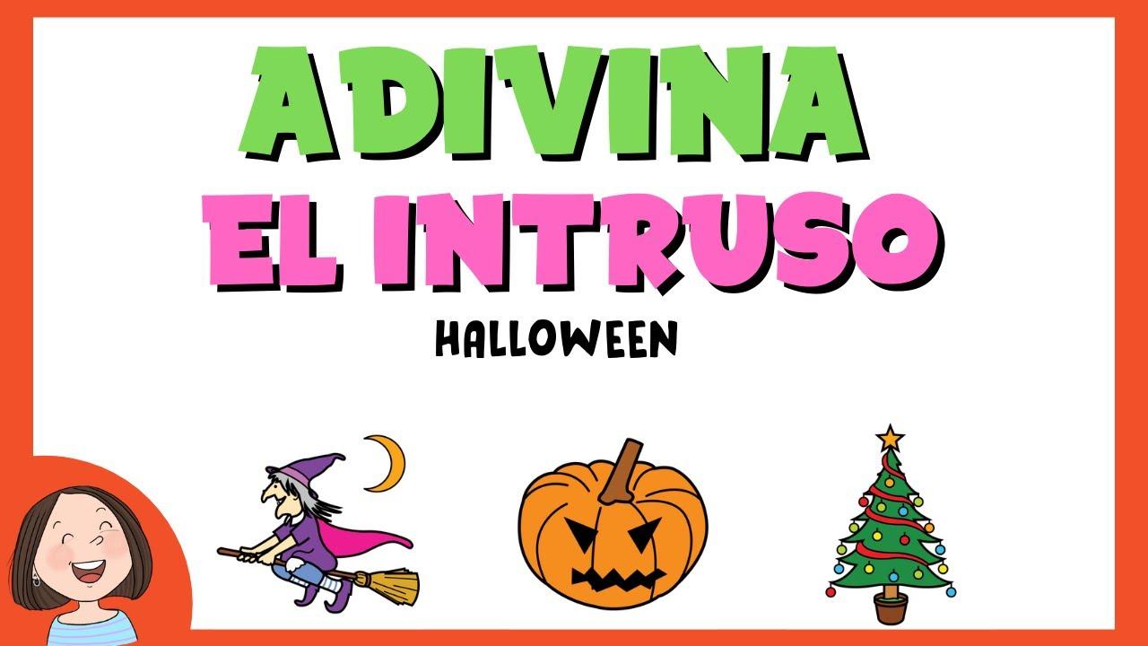 jugamos a adivinar el intruso halloween juego educativo para nios youtube