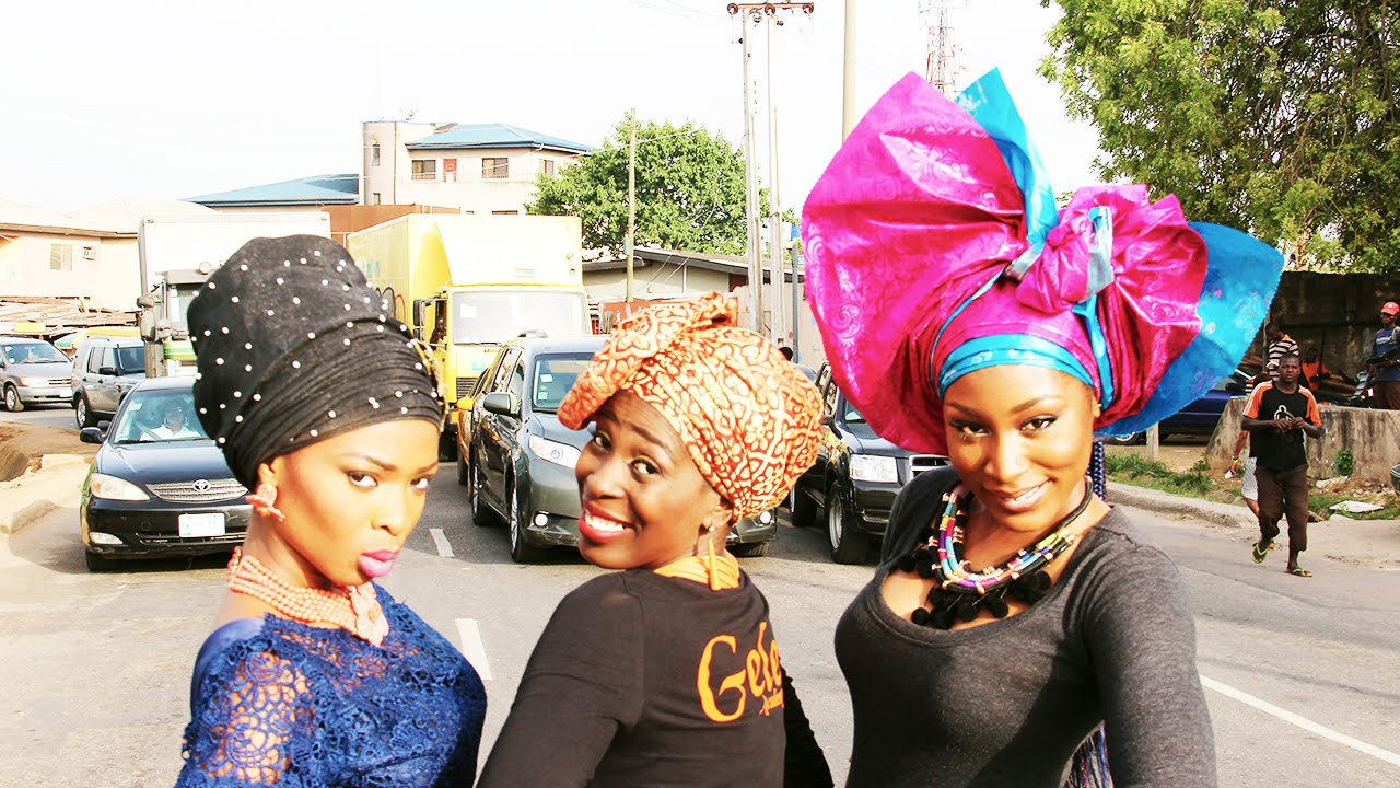 Ojulewa shows how to tie various styles of gele youtube ojulewa shows how to tie various styles of gele ccuart Gallery