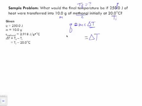 specific heat capacity problems pdf