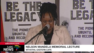 Prof Lumumba delivers the Nelson Mandela memorial lecture, 17 July 2018