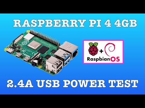 Raspberry Pi 4 Raspbian OS First Look. Running With 2.4A Power Adaptor