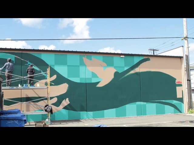 The Color Dreamers Mural Time Lapse - Olympia, Washington