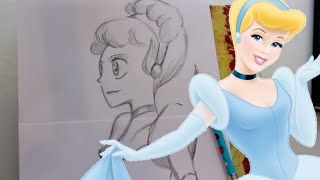 How to Draw ANIME CINDERELLA from Disney