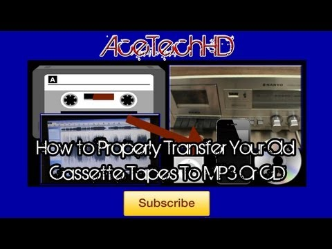 How to Properly Transfer Your Old Cassette Tapes To CD Or MP3 HQ