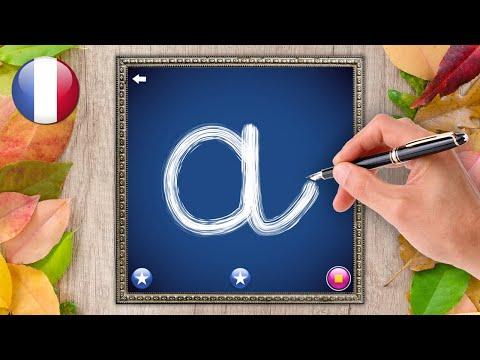 Apprendre à écrire lettres cursives minuscules - L'alphabet français (French Alphabet) Letter School