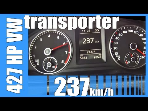 427 HP VW Transporter 2.5 TFSI MTM TUNED! FAST! 237 km/h Acceleration