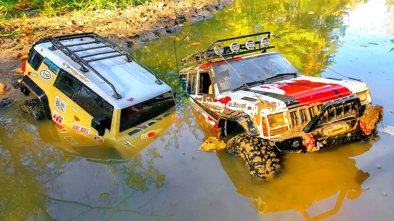 RC Cars MUD OFF Road – Axial Jeep Cherokee VS HPI FJ Cruiser – Wilimovich