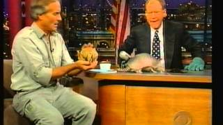 Jack Hanna on Letterman 90's (Aardvark, Armadillo, Eagle)