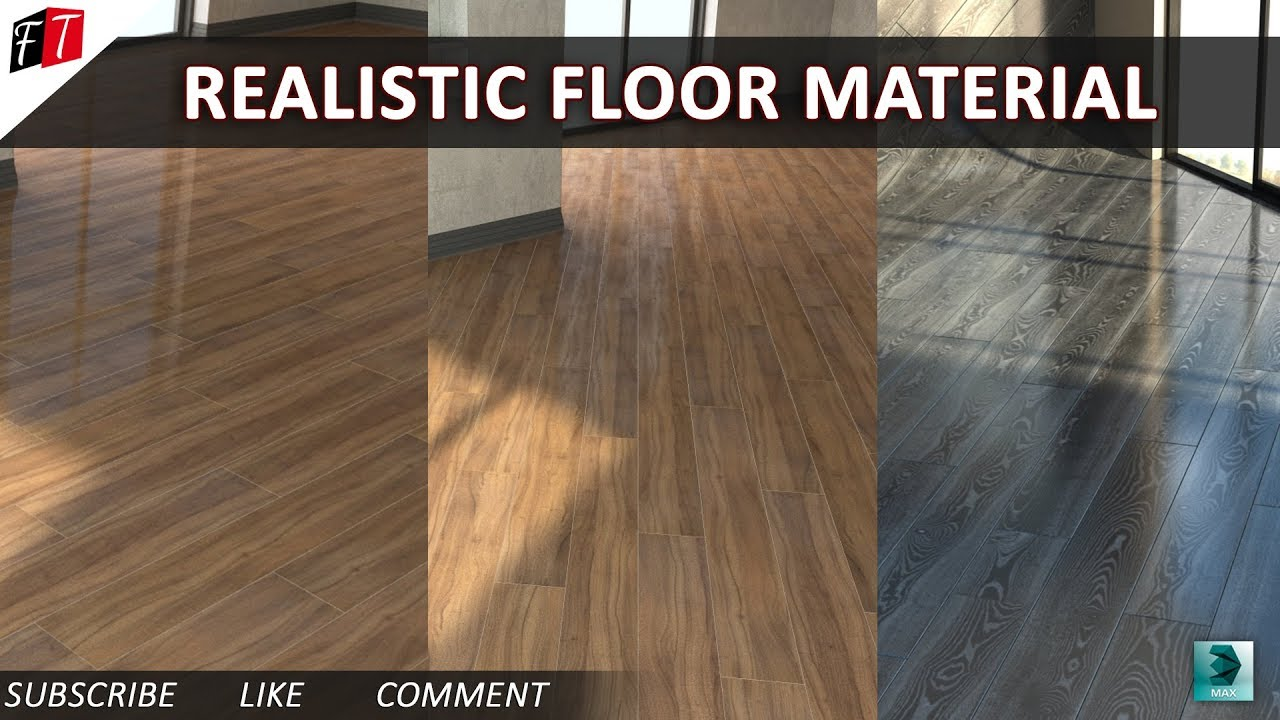 Realistic Floor Material In 3d Max 2016 Vray Youtube
