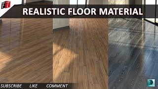Realistic Floor Material in 3D Max 2016 Vray