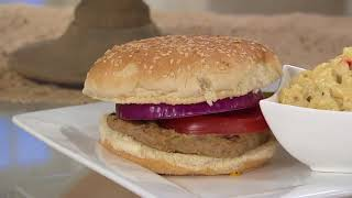 Charleston Gourmet Burger (12) 6-oz Marinated Turkey Burgers on QVC