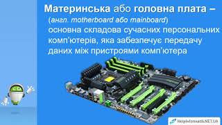 Урок 04  Архітектура комп'ютера   8 КЛАС