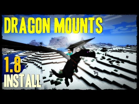 DRAGON MOUNTS MOD 1.8 minecraft - how to download and install dragon mounts 1.8 (with forge)