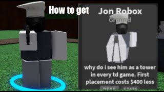 How to get J๐hn Roblox Tower | Critical Tower Defense (REMOVED)