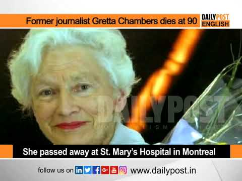 Former journalist and McGill University chancellor Gretta Chambers dies at 90