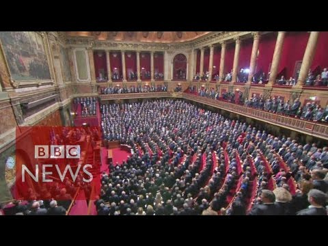 French parliament sings La Marseillaise  - BBC News