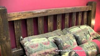 Lumberjack Barnwood Bed From Logfurnitureplace.com