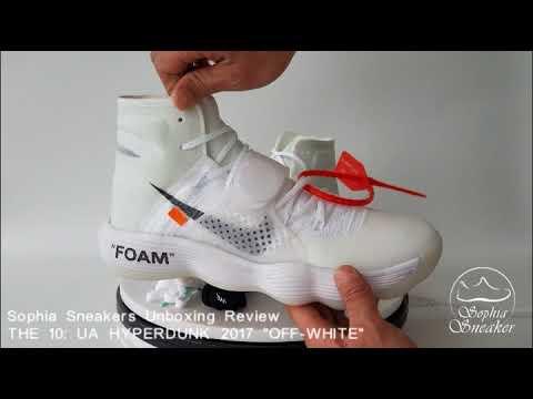 192ea613a5cf Sophia s Unboxing Review For UA THE TEN HYPERDUNK 2017 OFF WHITE. Sneakers  Sophia