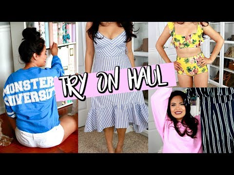 RE-BUILDING MY WARDROBE   TRY-ON HAUL 2018: JUSTFAB, NORDSTROM, & HOLLISTER