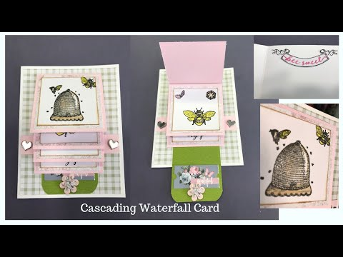 Cascading Waterfall Card with Template - Using our March Kit
