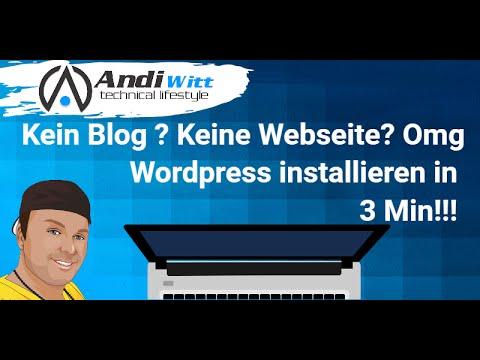 WordPress Webseite Installieren in 3 Minuten 2016