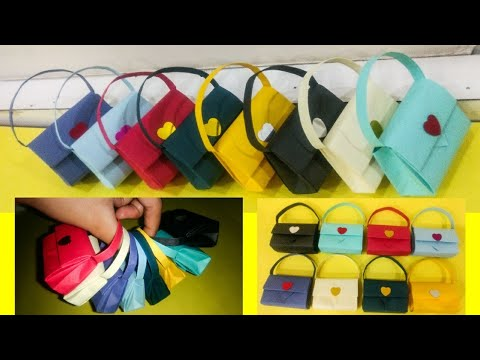 DIY Mini handbag | how to make paper handbag | handmade bag tutorial