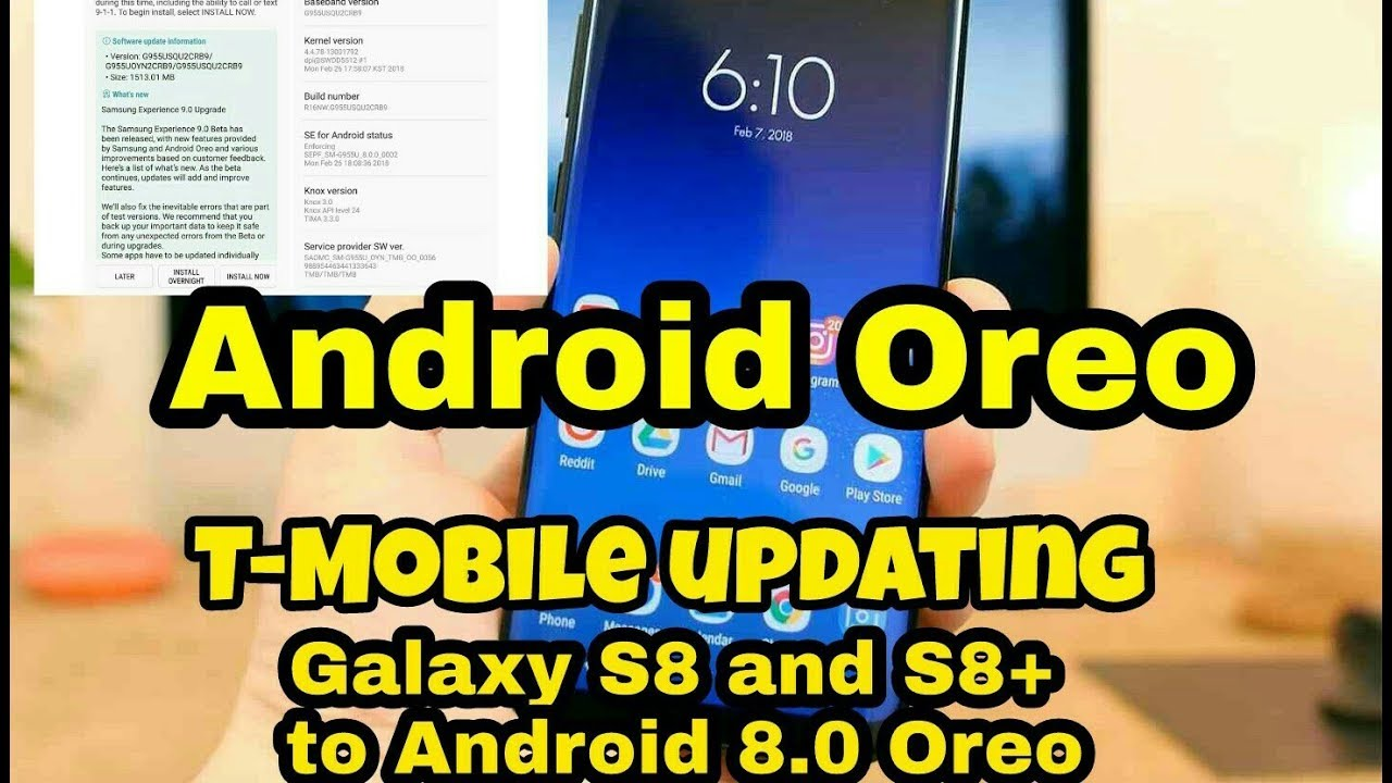 T Mobile updating Galaxy S8 and S8+ to Android 8 0 Oreo