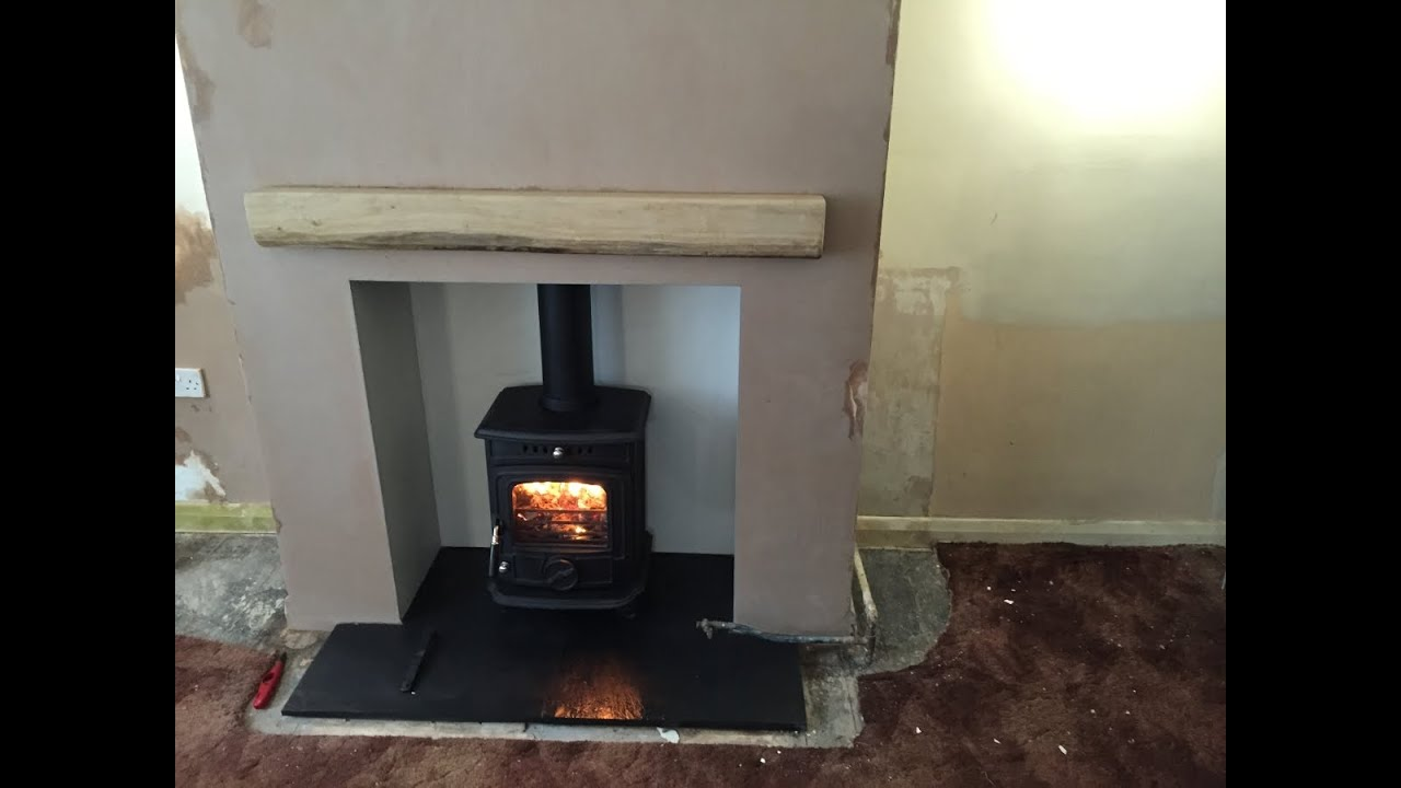 baby gabriel stove installation of fireplace and wood burning
