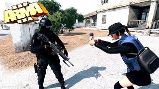Репортаж из горячей точки! Репортёр взял интервью во время перестрелки! - Arma 3 Altis Life