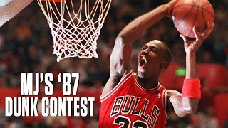 Michael Jordan's 1987 NBA Slam Dunk Contest | NBA Highlights Video