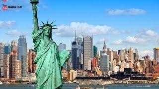 Достопримечательности Нью-Йорка. Манхэттен. Магазин Эпл на 5-й авеню(Прогулка по Нью-Йорку. Куда пойти в Нью-Йорке гулять? Топ 10 интересных мест Нью Йорка. Невероятные впечатлен..., 2016-01-31T11:18:31.000Z)