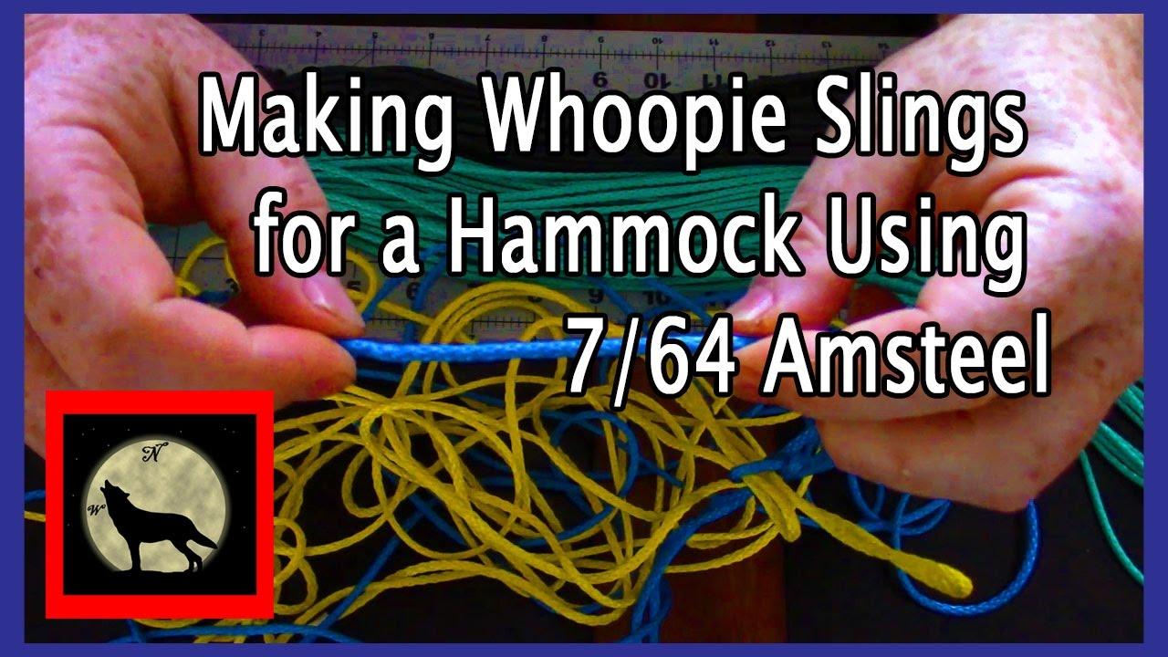 making whoopie slings for a hammock using 7 64 amsteel making whoopie slings for a hammock using 7 64 amsteel   youtube  rh   youtube