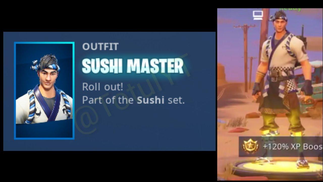 New leaked sushi master skin ft ninja fortnite battle - Sushi skin fortnite ...