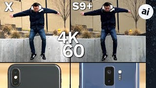 iPhone X vs S9 Plus Video Comparison - Low Quality 4K 60 on S9?!