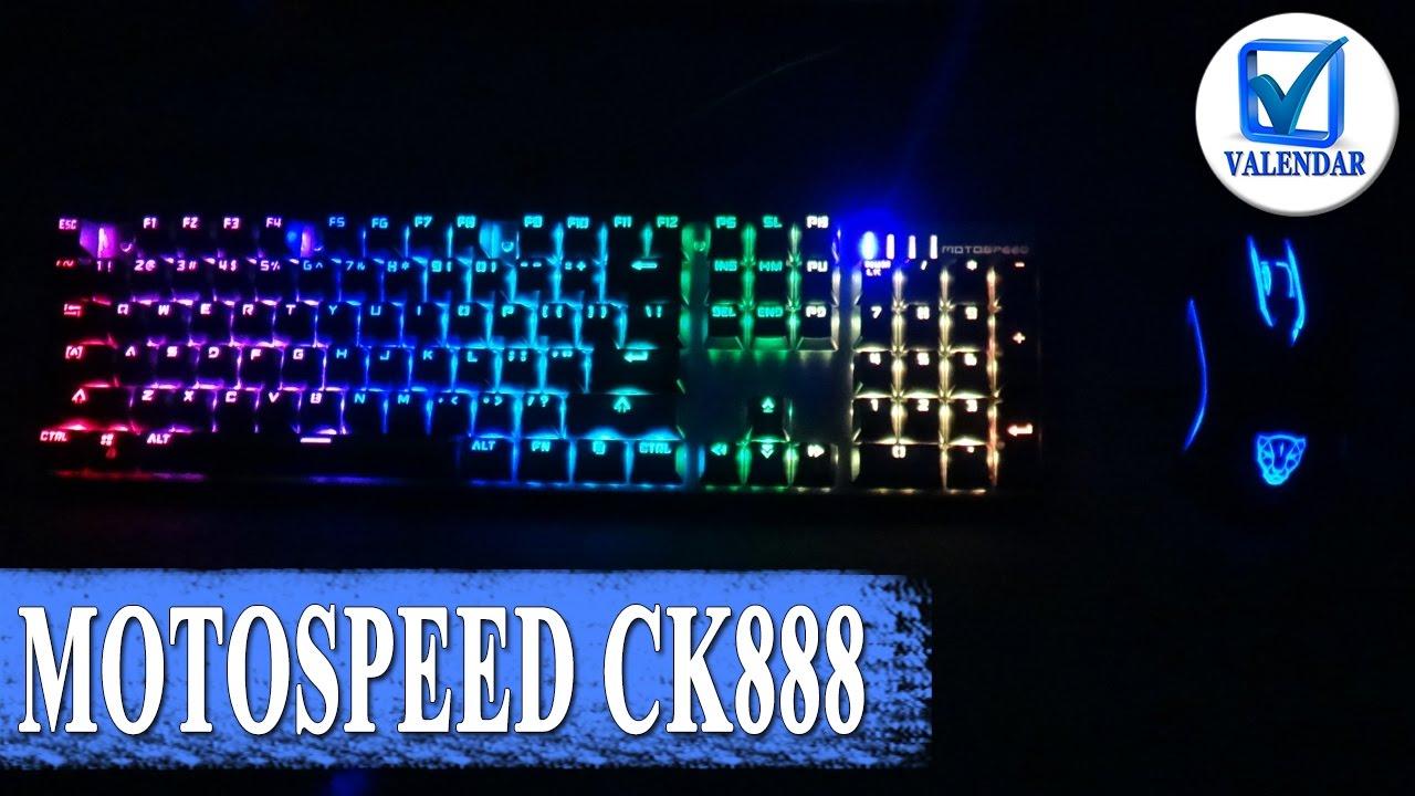 Обзор Motospeed CK888 механическая клавиатура с подсветкой и геймерская мышка V30