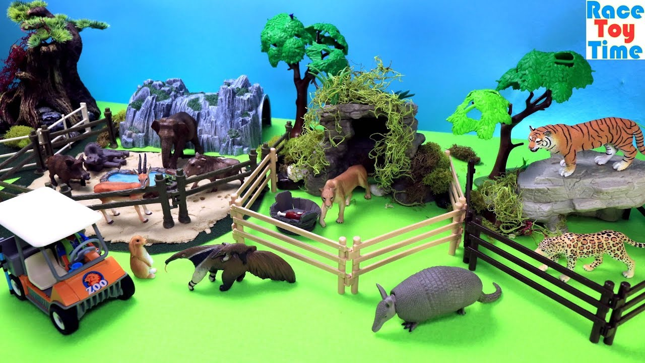 Toy Zoo Wild Animals Fun Animal Toys For Kids Youtube