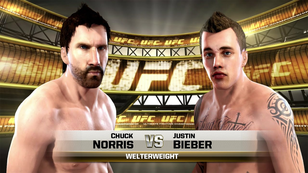 Justin Bieber vs Chuck Norris UFC EA SPORTS Celebrity ...