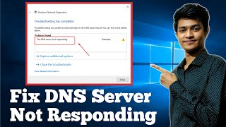 How to fix dns server not responding on windows 10/7/8 | Wifi or Wired Connection