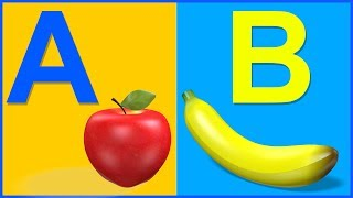 Learn ABCD with Balls | A for Apple | Letters for Toddlers | Alphabets for Kids | A to Z Cartoon