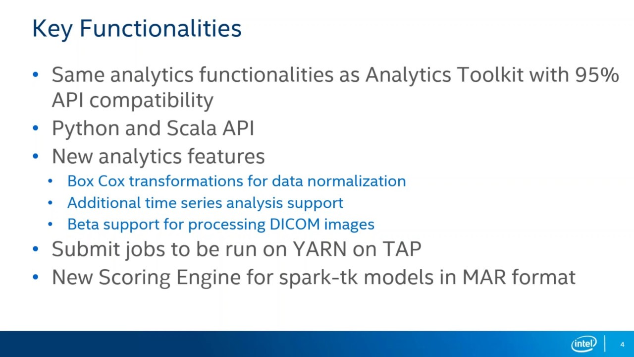 Introducing spark tk library (Data Science Series)