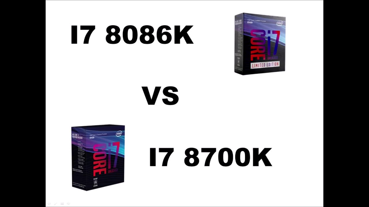 Intel I7 8086k Vs I7 8700k Cpu Benchmarks Youtube