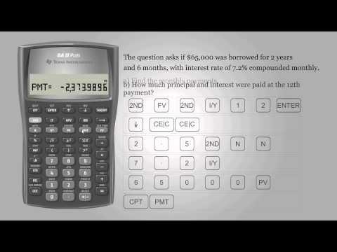 Amort Function of TI BA II Plus Professional Calculator | Doovi
