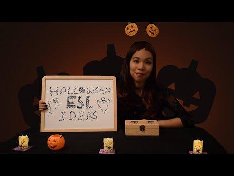ASMR SOFT SPEAKING: Halloween ESL Activities 🎃📚  | + Paper Sounds