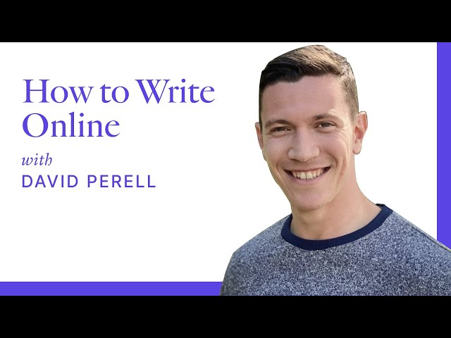 How to Write Online Workshop