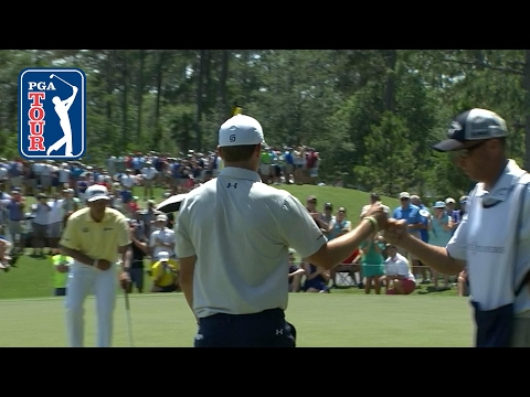 Jordan Spieth's classy par after flubbing chip at THE PLAYERS